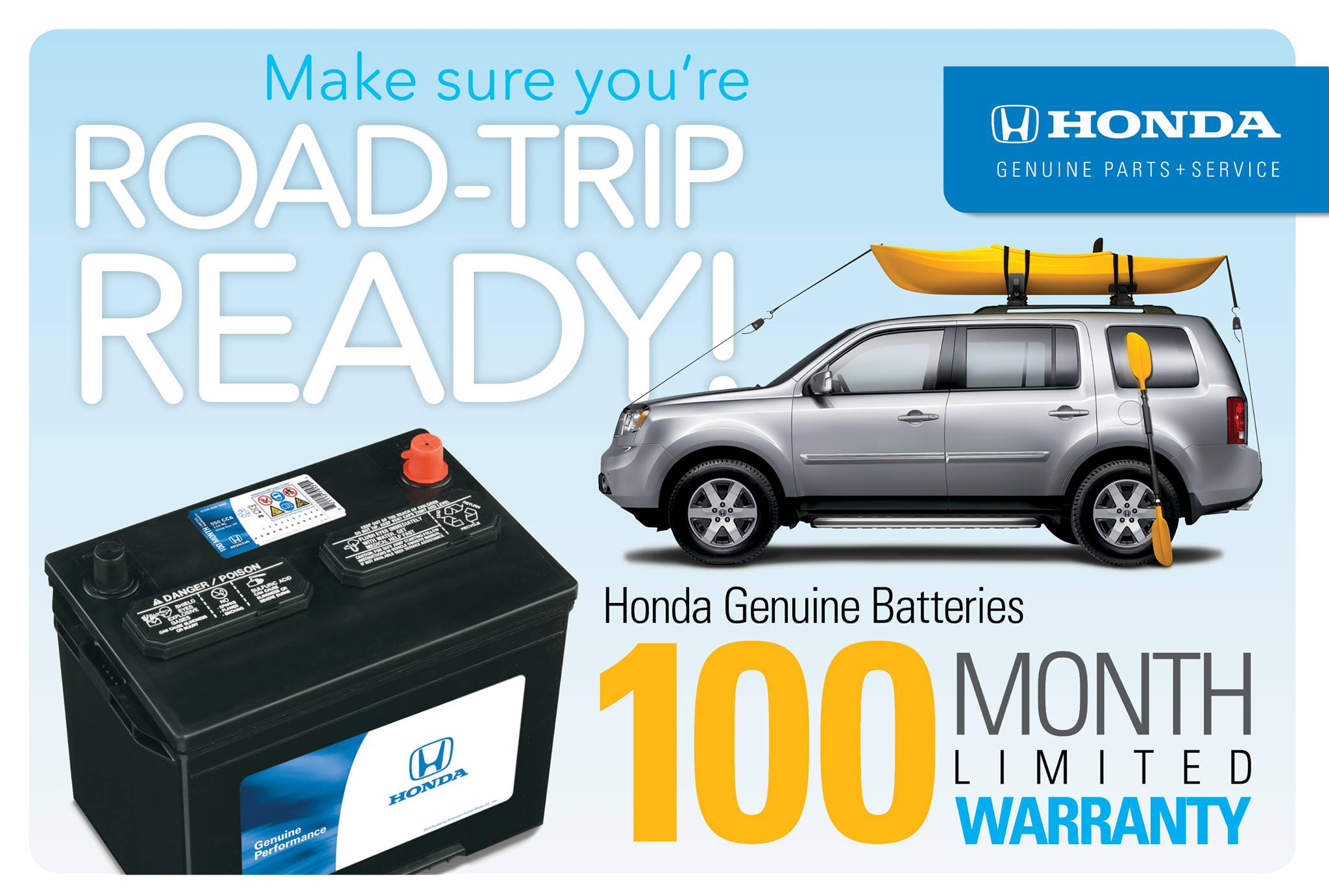 Is Still In Full Swing And Honda Wants To Make Sure That You Are Road Trip Ready By Telling All About Their Incredible Genuine Batteries